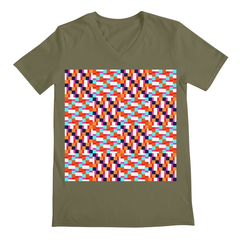 Geometric Design Series 4, Poster 9 (Version 2) Men's Regular V-Neck by Madeleine Hettich Design & Illustration