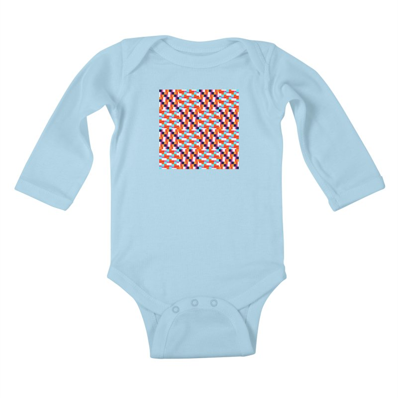 Geometric Design Series 4, Poster 9 (Version 2) Kids Baby Longsleeve Bodysuit by Madeleine Hettich Design & Illustration