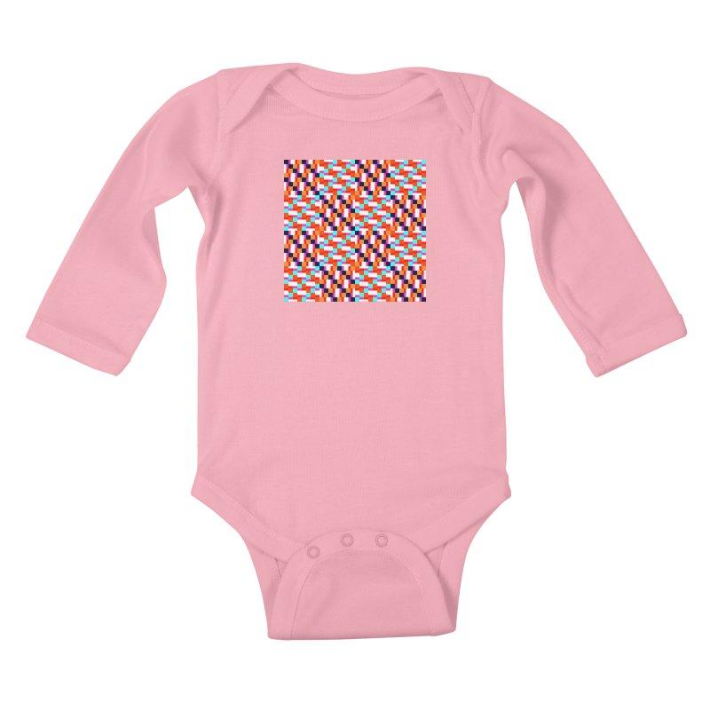 Geometric Design Series 4, Poster 9 (Version 2) Kids Baby Longsleeve Bodysuit by Madeleine Hettich Design & Illustration