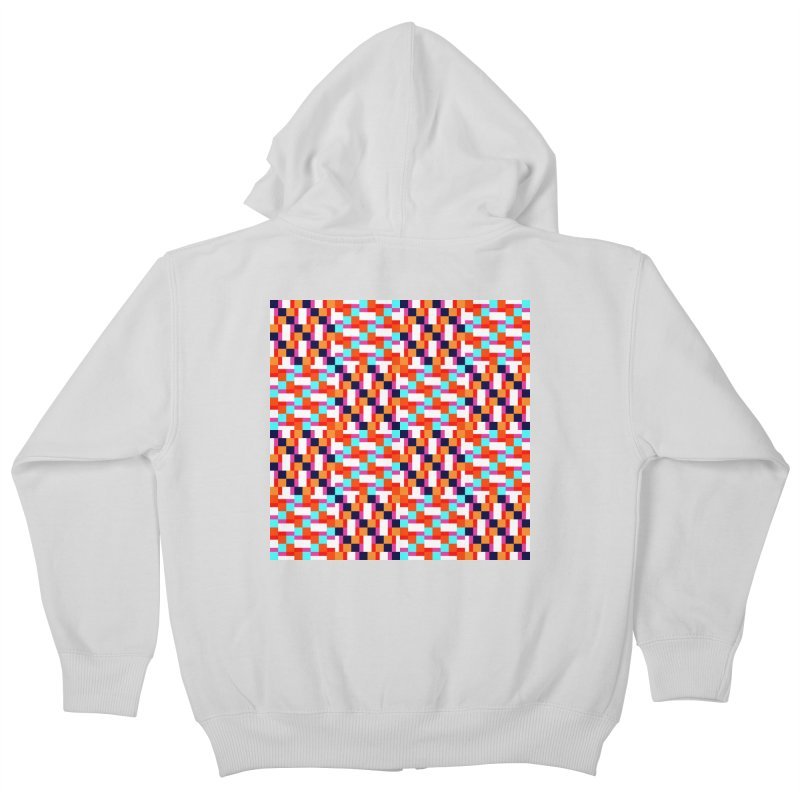 Geometric Design Series 4, Poster 9 (Version 2) Kids Zip-Up Hoody by Madeleine Hettich Design & Illustration