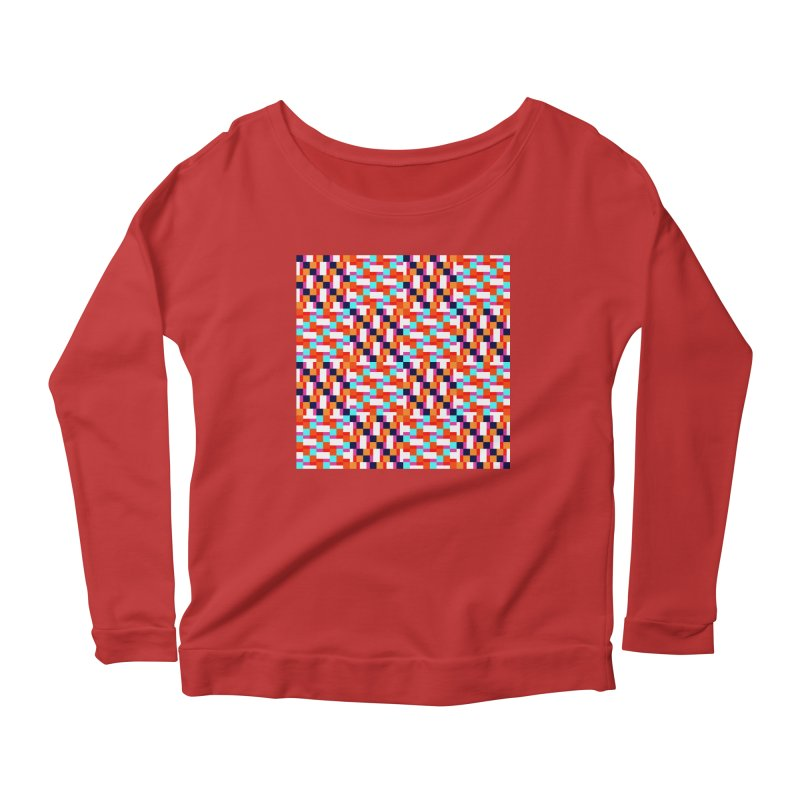 Geometric Design Series 4, Poster 9 (Version 2) Women's Scoop Neck Longsleeve T-Shirt by Madeleine Hettich Design & Illustration