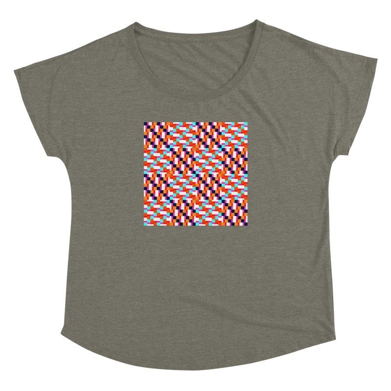 Geometric Design Series 4, Poster 9 (Version 2) Women's Dolman Scoop Neck by Madeleine Hettich Design & Illustration