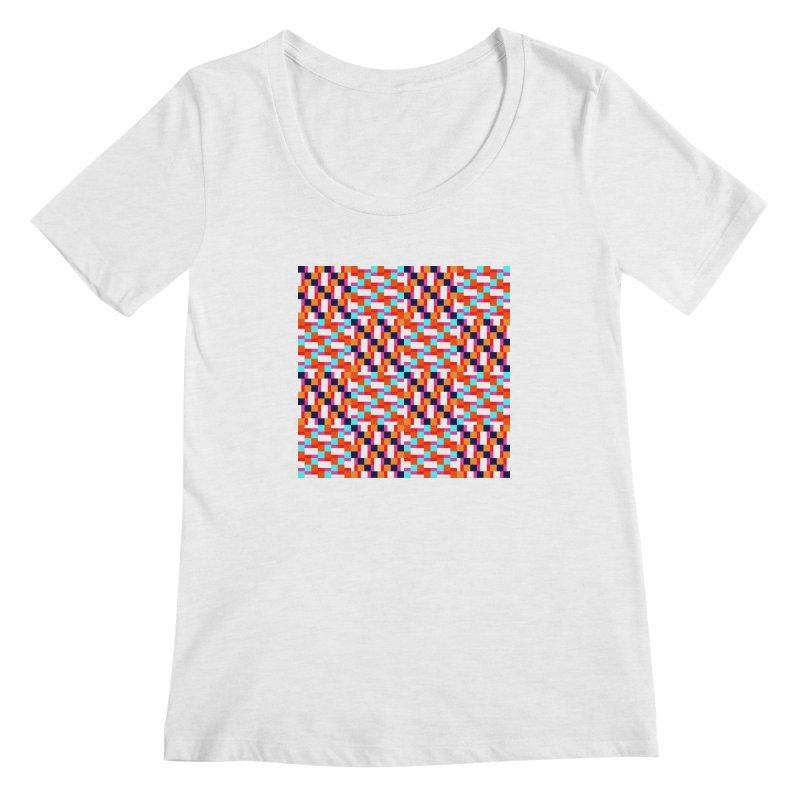 Geometric Design Series 4, Poster 9 (Version 2) Women's Regular Scoop Neck by Madeleine Hettich Design & Illustration
