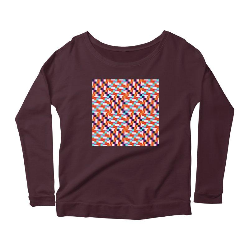 Geometric Design Series 4, Poster 9 (Version 2) Women's Scoop Neck Longsleeve T-Shirt by Madeleine Hettich Design & Illustration