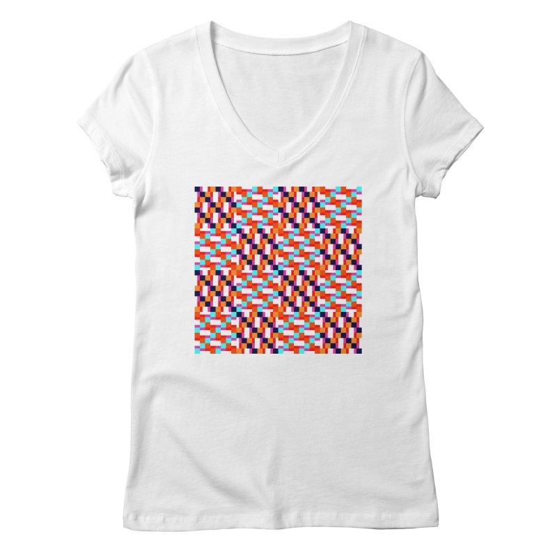 Geometric Design Series 4, Poster 9 (Version 2) Women's Regular V-Neck by Madeleine Hettich Design & Illustration