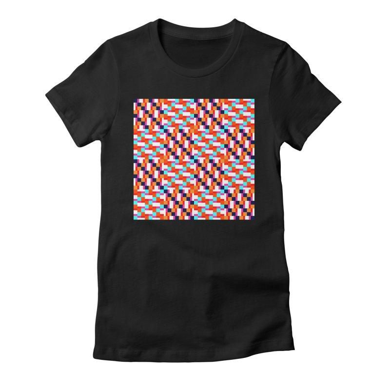 Geometric Design Series 4, Poster 9 (Version 2) Women's Fitted T-Shirt by Madeleine Hettich Design & Illustration