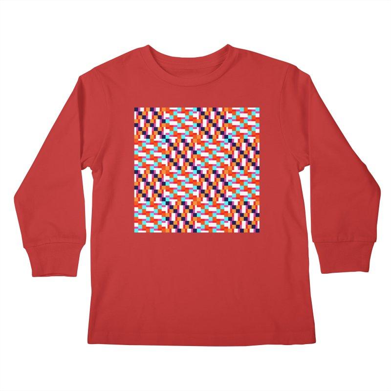 Geometric Design Series 4, Poster 9 (Version 2) Kids Longsleeve T-Shirt by Madeleine Hettich Design & Illustration
