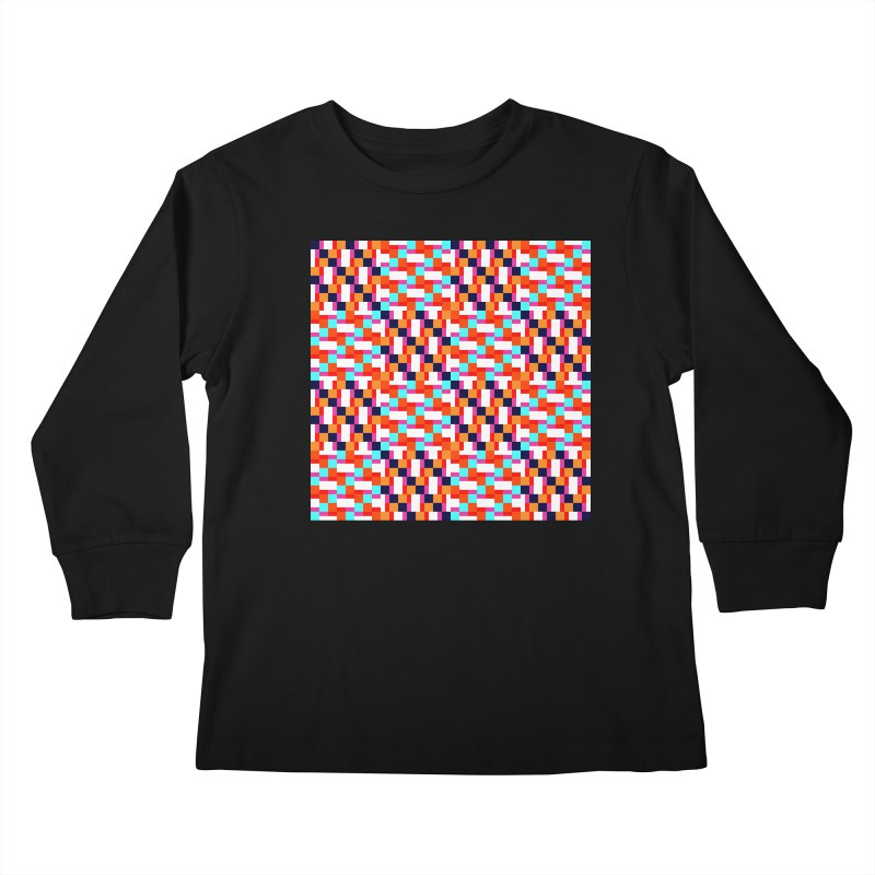 Geometric Design Series 4, Poster 9 (Version 2) Kids Longsleeve T-Shirt by Madeleine Hettich Design & Illustration