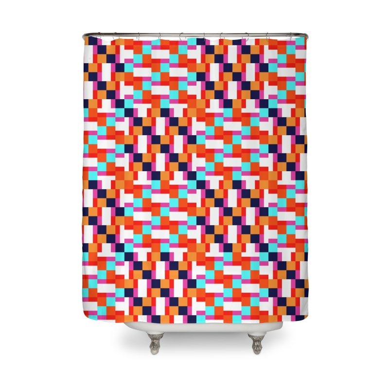 Geometric Design Series 4, Poster 9 (Version 2) Home Shower Curtain by Madeleine Hettich Design & Illustration