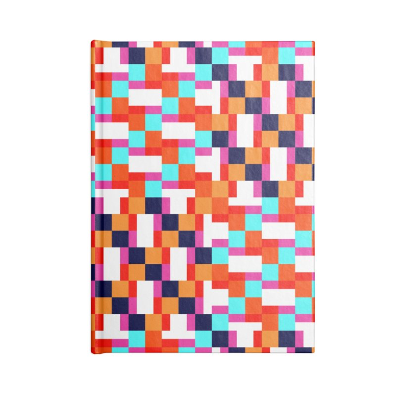 Geometric Design Series 4, Poster 9 (Version 2) Accessories Lined Journal Notebook by Madeleine Hettich Design & Illustration