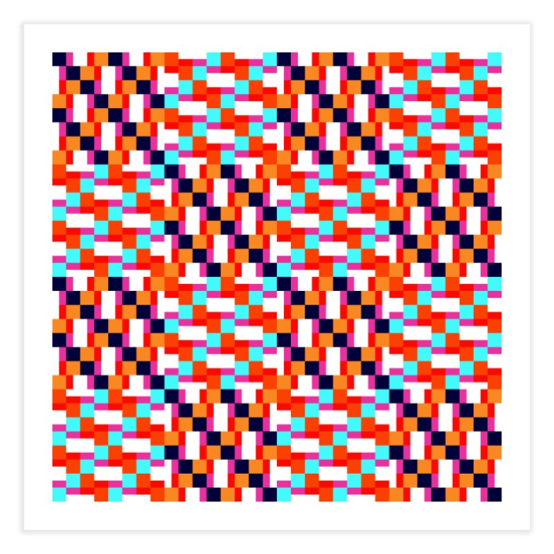 Geometric Design Series 4, Poster 9 (Version 2) Home Fine Art Print by Madeleine Hettich Design & Illustration