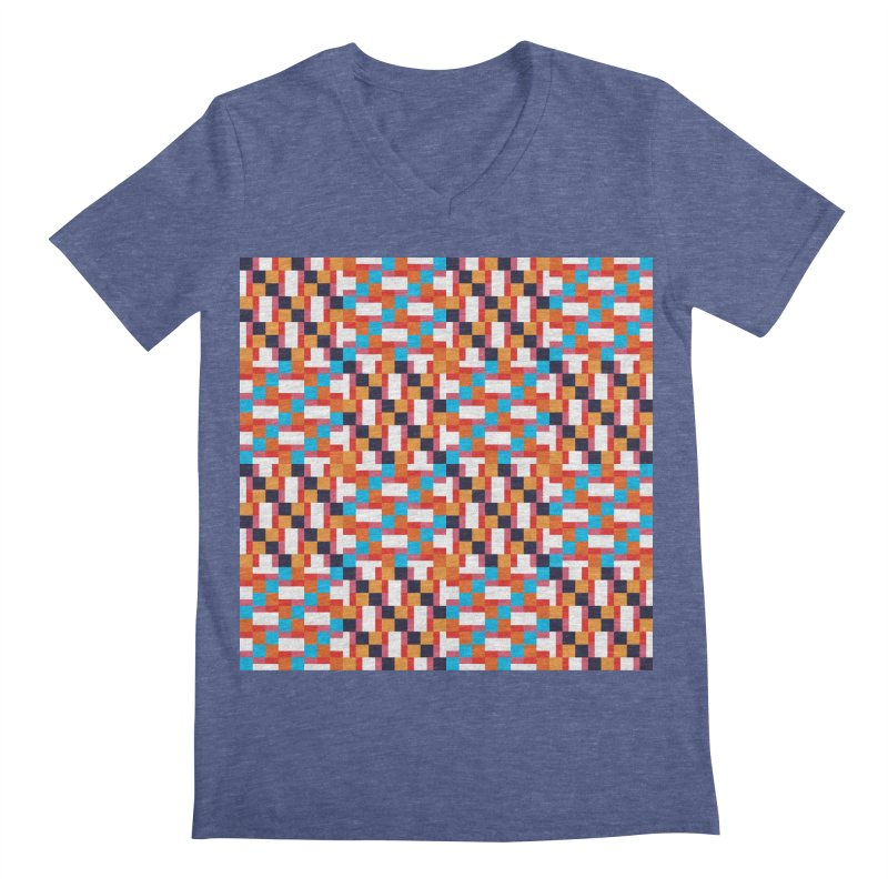 Geometric Design Series 4, Poster 9 Men's Regular V-Neck by Madeleine Hettich Design & Illustration