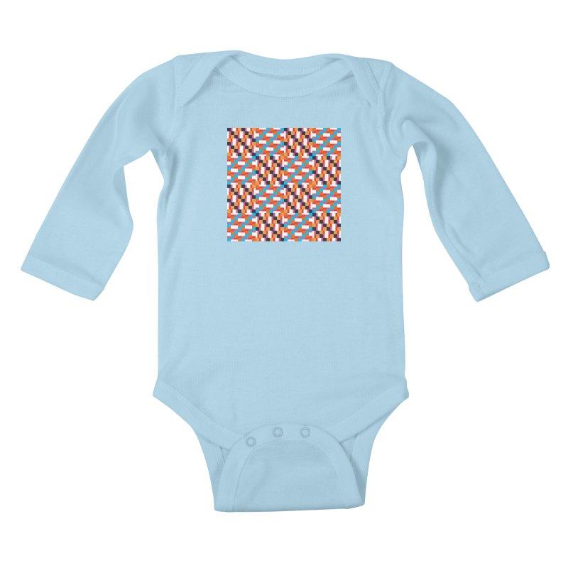 Geometric Design Series 4, Poster 9 Kids Baby Longsleeve Bodysuit by Madeleine Hettich Design & Illustration
