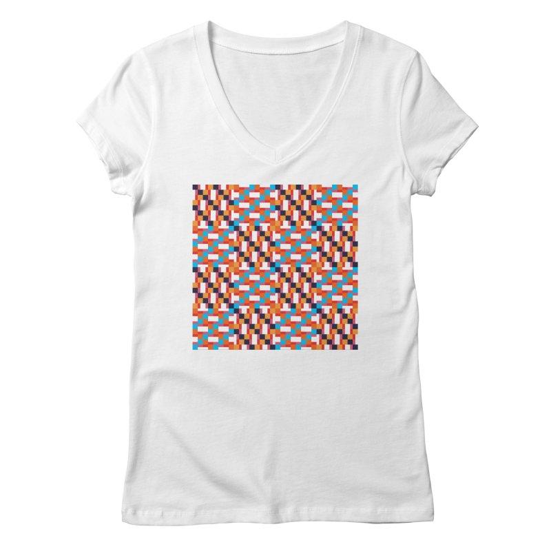 Geometric Design Series 4, Poster 9 Women's V-Neck by Madeleine Hettich Design & Illustration