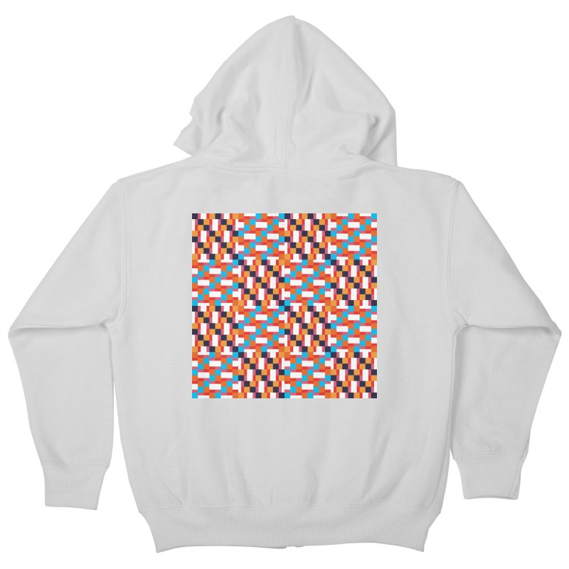 Geometric Design Series 4, Poster 9 Kids Zip-Up Hoody by Madeleine Hettich Design & Illustration