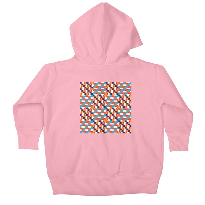 Geometric Design Series 4, Poster 9 Kids Baby Zip-Up Hoody by Madeleine Hettich Design & Illustration