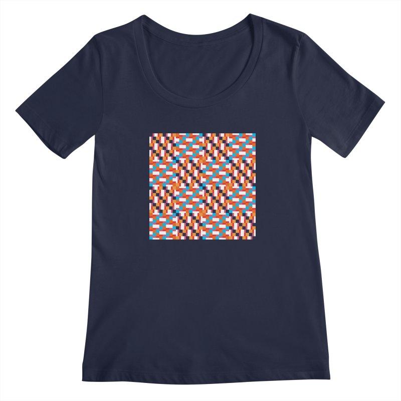 Geometric Design Series 4, Poster 9 Women's Scoopneck by Madeleine Hettich Design & Illustration