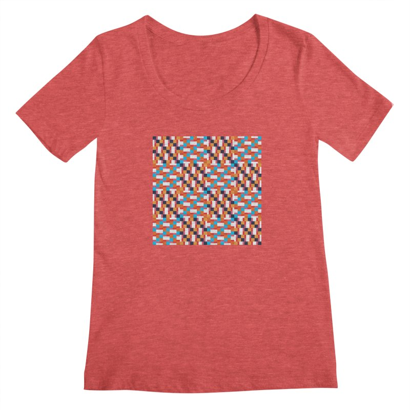 Geometric Design Series 4, Poster 9 Women's Scoopneck by Madeleine Hettich Design & Illustration