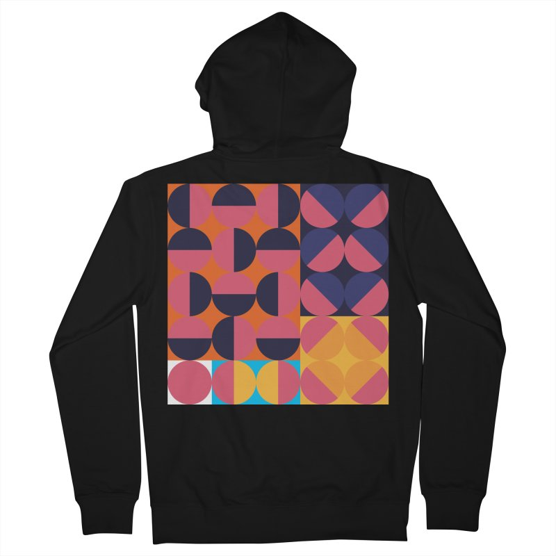 Geometric Design Series 4, Poster 8 Men's French Terry Zip-Up Hoody by Madeleine Hettich Design & Illustration