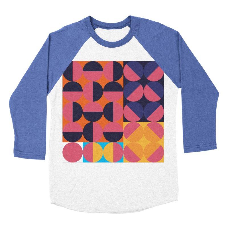 Geometric Design Series 4, Poster 8 Men's Baseball Triblend Longsleeve T-Shirt by Madeleine Hettich Design & Illustration
