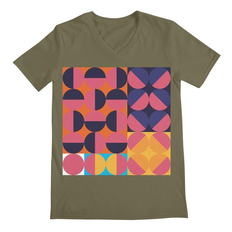 Geometric Design Series 4, Poster 8 Men's Regular V-Neck by Madeleine Hettich Design & Illustration
