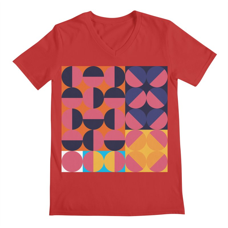 Geometric Design Series 4, Poster 8 Men's Regular V-Neck by Madeleine Hettich Design & Illustration