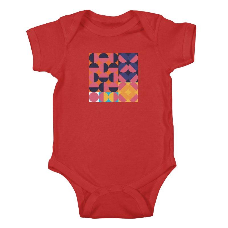 Geometric Design Series 4, Poster 8 Kids Baby Bodysuit by Madeleine Hettich Design & Illustration