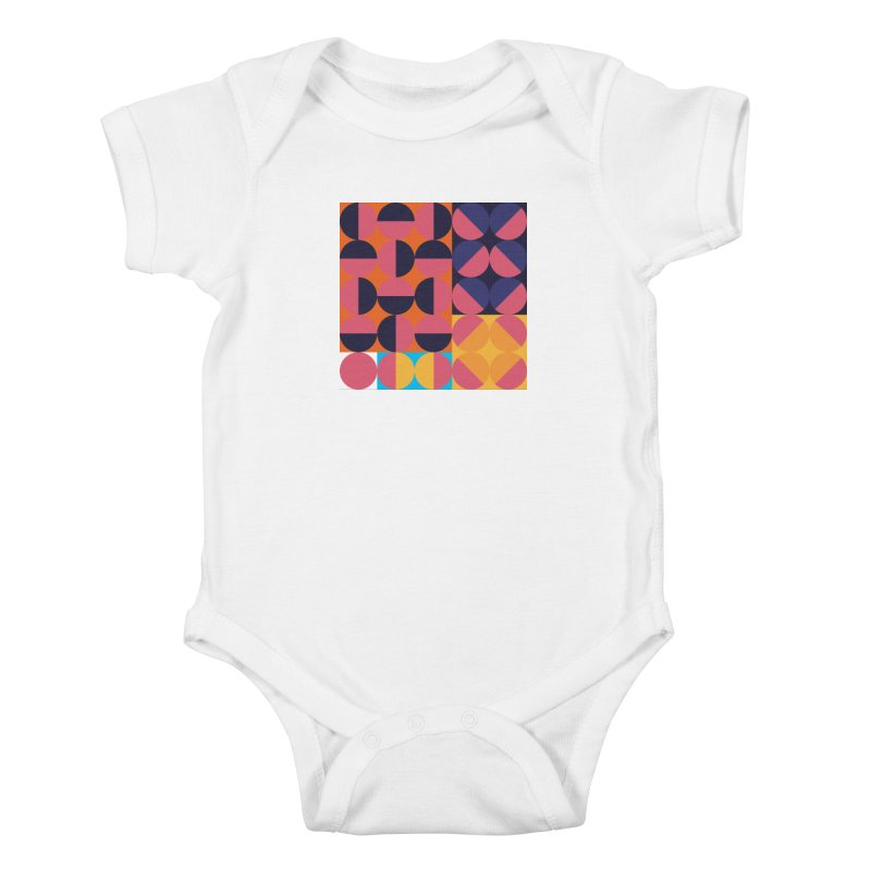 Geometric Design Series 4, Poster 8 Kids Baby Bodysuit by Madeleine Hettich Design & Illustration