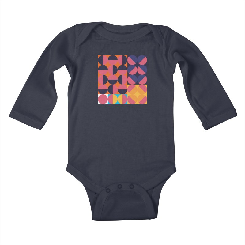 Geometric Design Series 4, Poster 8 Kids Baby Longsleeve Bodysuit by Madeleine Hettich Design & Illustration
