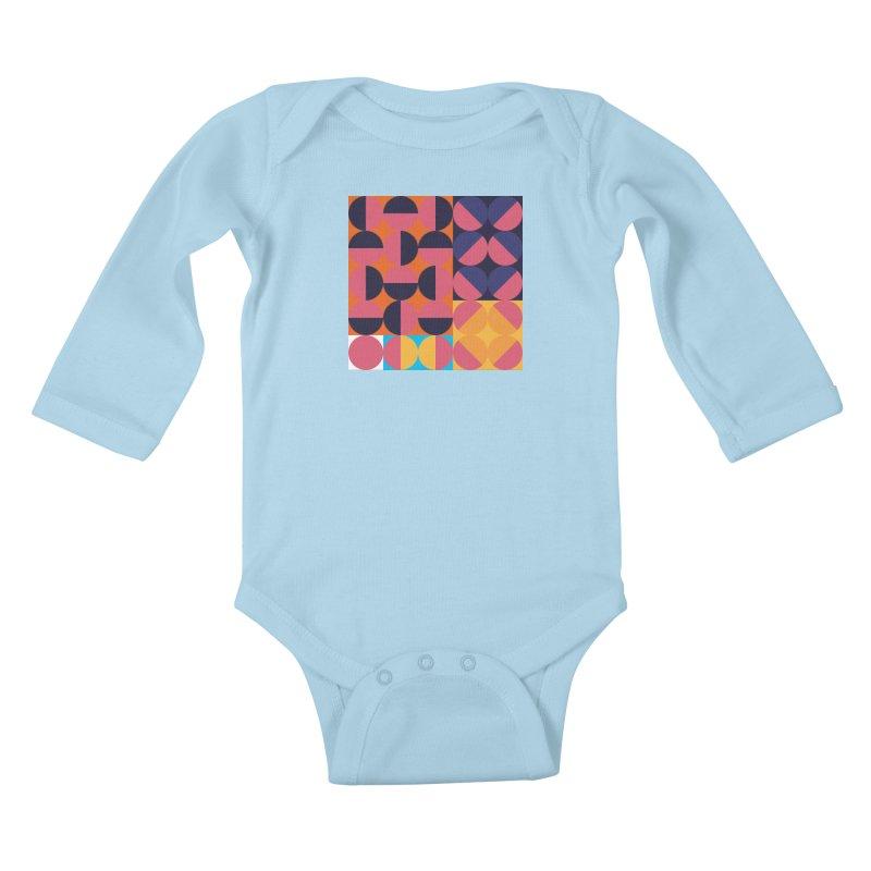 Geometric Design Series 4, Poster 8 Kids Baby Longsleeve Bodysuit by Madeleine Hettich Design & Illustration