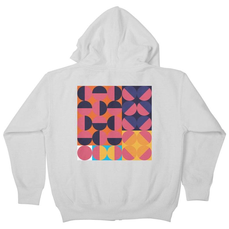 Geometric Design Series 4, Poster 8 Kids Zip-Up Hoody by Madeleine Hettich Design & Illustration