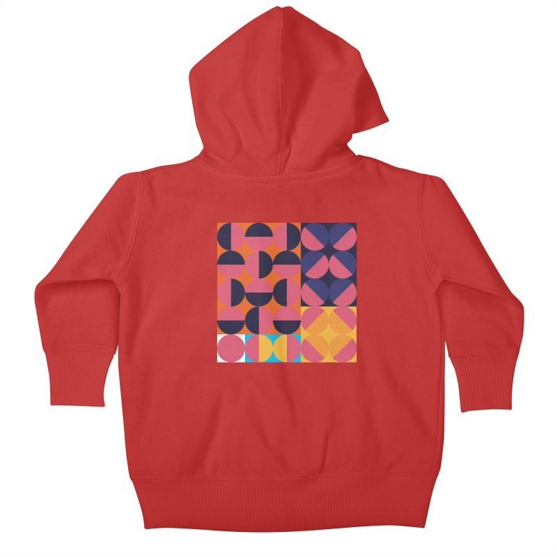 Geometric Design Series 4, Poster 8 Kids Baby Zip-Up Hoody by Madeleine Hettich Design & Illustration