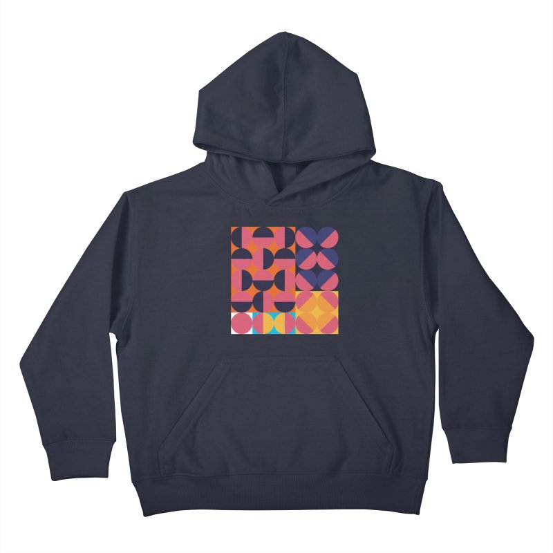 Geometric Design Series 4, Poster 8 Kids Pullover Hoody by Madeleine Hettich Design & Illustration