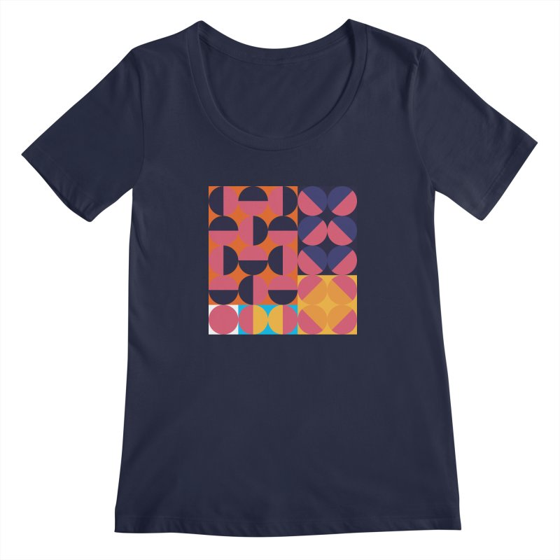 Geometric Design Series 4, Poster 8 Women's Scoopneck by Madeleine Hettich Design & Illustration