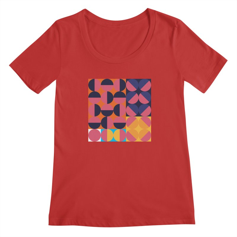 Geometric Design Series 4, Poster 8 Women's Regular Scoop Neck by Madeleine Hettich Design & Illustration