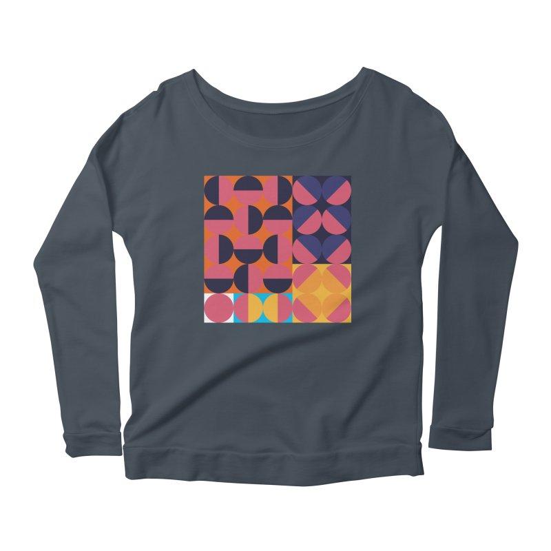 Geometric Design Series 4, Poster 8 Women's Scoop Neck Longsleeve T-Shirt by Madeleine Hettich Design & Illustration