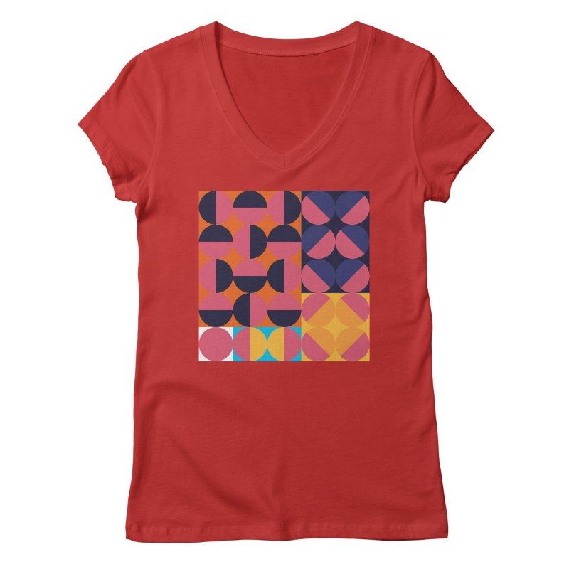 Geometric Design Series 4, Poster 8 Women's V-Neck by Madeleine Hettich Design & Illustration
