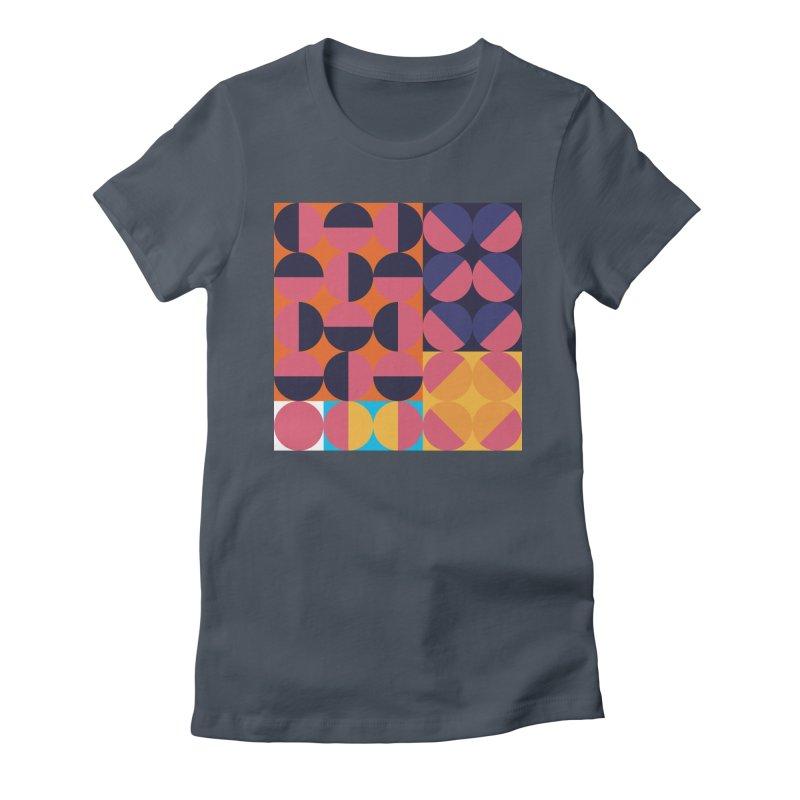 Geometric Design Series 4, Poster 8 Women's Fitted T-Shirt by Madeleine Hettich Design & Illustration