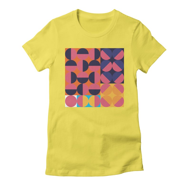 Geometric Design Series 4, Poster 8 Women's Fitted T-Shirt by Madeleine Hettich Design & Illustration
