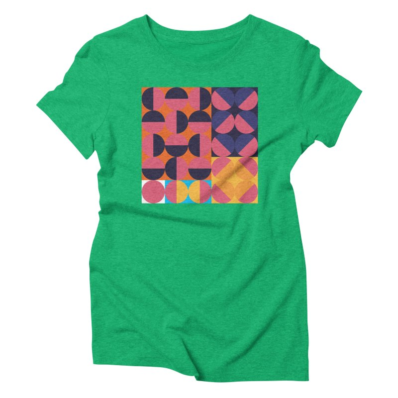Geometric Design Series 4, Poster 8 Women's Triblend T-Shirt by Madeleine Hettich Design & Illustration