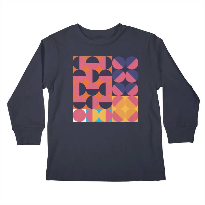 Geometric Design Series 4, Poster 8 Kids Longsleeve T-Shirt by Madeleine Hettich Design & Illustration
