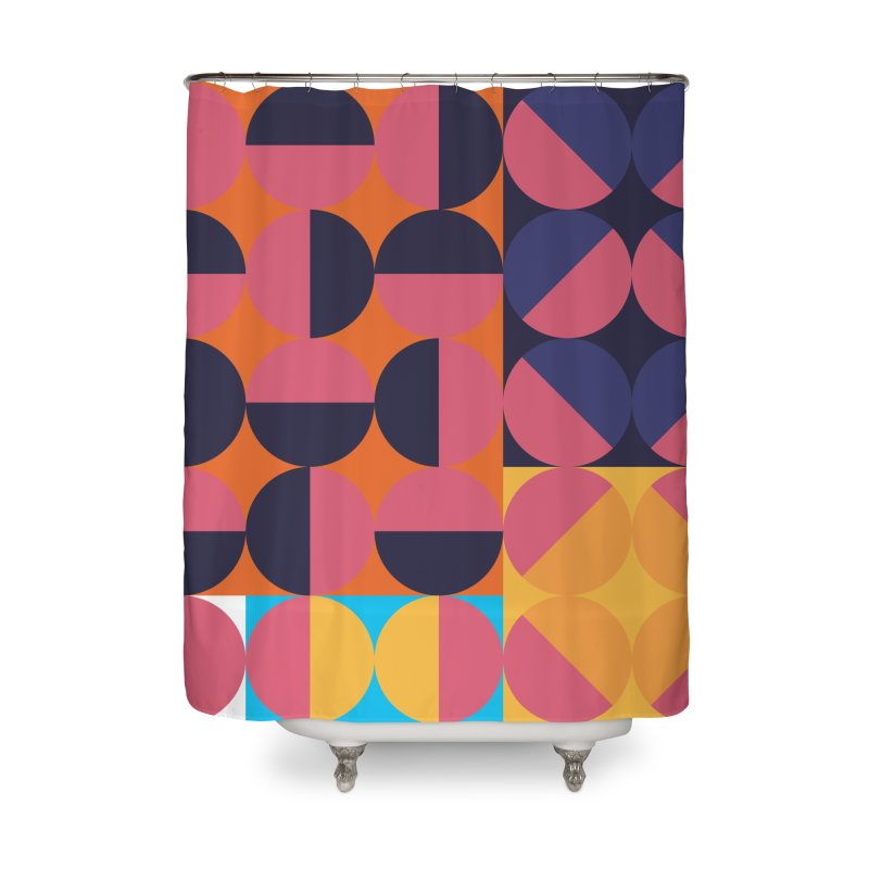 Geometric Design Series 4, Poster 8 Home Shower Curtain by Madeleine Hettich Design & Illustration
