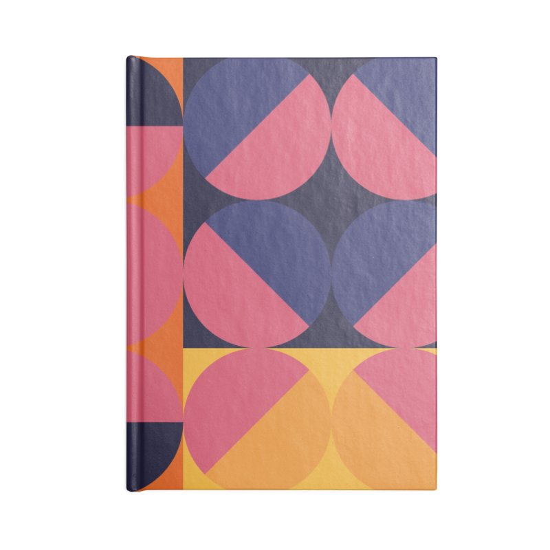 Geometric Design Series 4, Poster 8 Accessories Lined Journal Notebook by Madeleine Hettich Design & Illustration