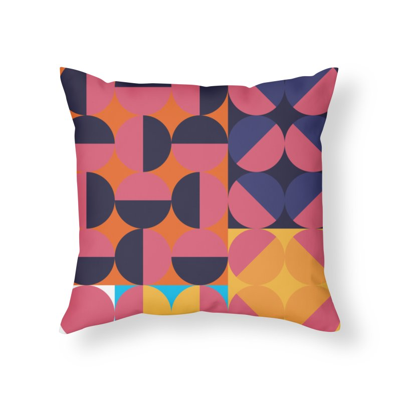 Geometric Design Series 4, Poster 8 Home Throw Pillow by Madeleine Hettich Design & Illustration