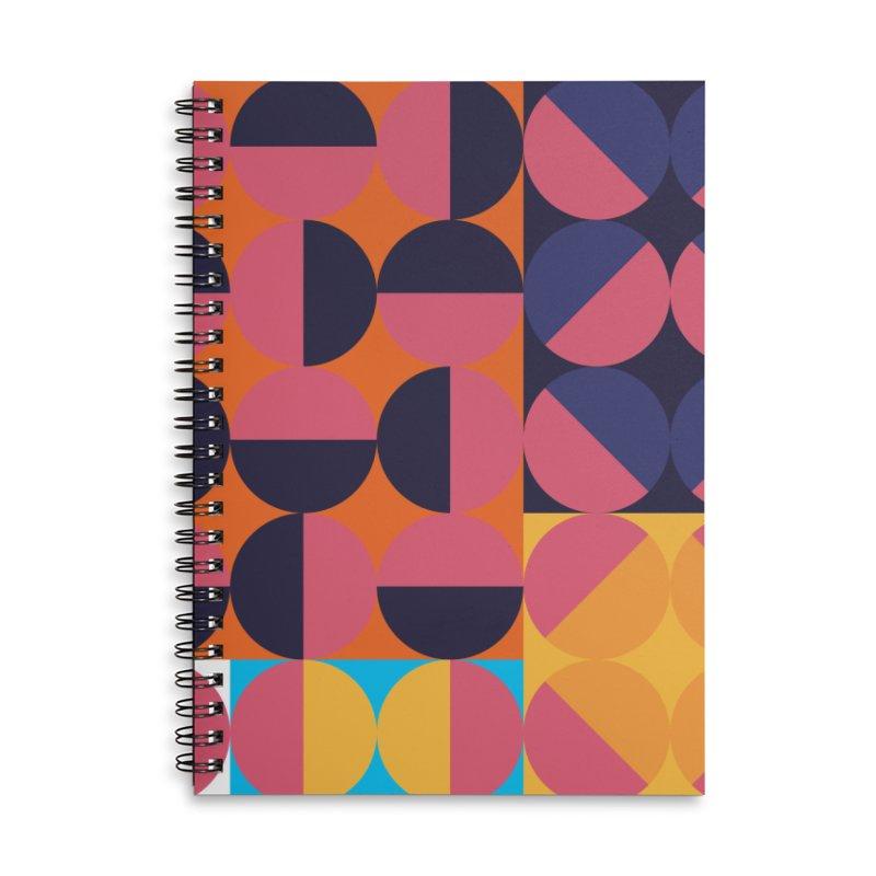 Geometric Design Series 4, Poster 8 Accessories Lined Spiral Notebook by Madeleine Hettich Design & Illustration