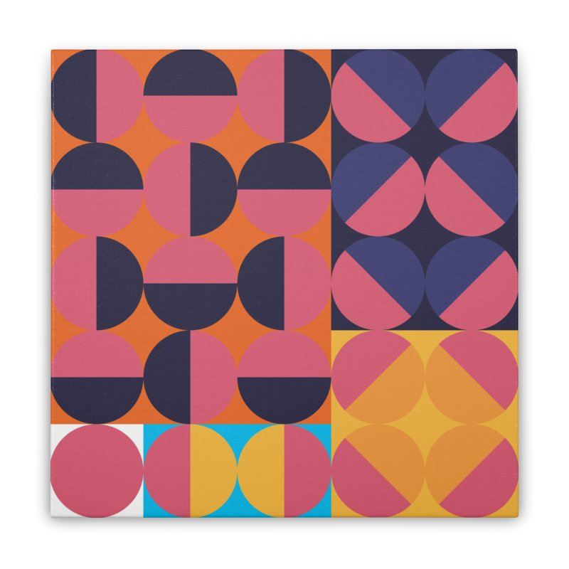 Geometric Design Series 4, Poster 8 Home Stretched Canvas by Madeleine Hettich Design & Illustration