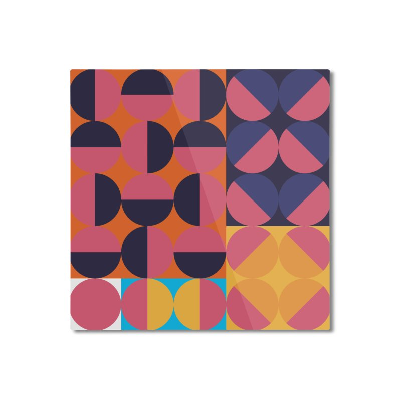 Geometric Design Series 4, Poster 8 Home Mounted Aluminum Print by Madeleine Hettich Design & Illustration