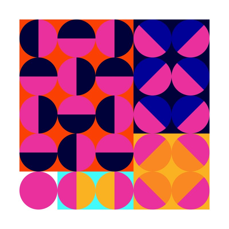 Geometric Design Series 4, Poster 8 (Version2) by Madeleine Hettich Design & Illustration