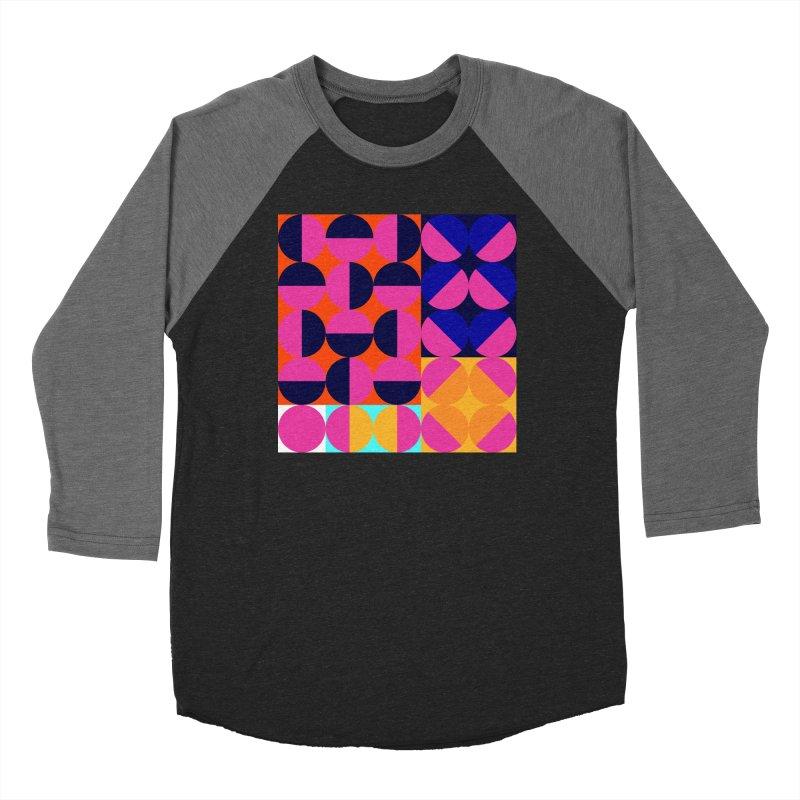 Geometric Design Series 4, Poster 8 (Version2) Women's Baseball Triblend Longsleeve T-Shirt by Madeleine Hettich Design & Illustration