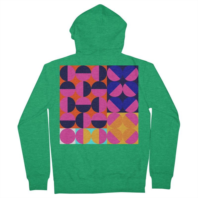Geometric Design Series 4, Poster 8 (Version2) Men's Zip-Up Hoody by Madeleine Hettich Design & Illustration